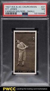 1927 Churchman Famous Golfers Small Bobby Jones #27 PSA 7 NRMT