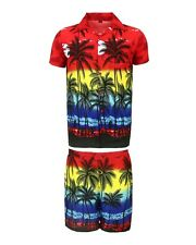 Mens Hawaiian Shirt Stag Beach Hawaii Aloha Party Summer Holiday Fancy S -xxl D8 Red Palm Set L