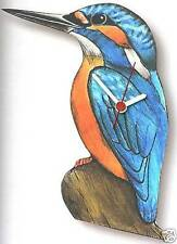More details for kingfisher wooden wall clock made in uk gift boxed new