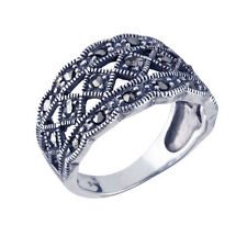 Marcasite Band Sterling Silver Fine Rings