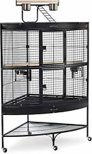 Cage Bird Parrot Large Finch Pet Cockatiel Top Stand Macaw Play Supply House