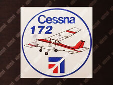 ROUND DIECUT CESSNA C 172 C172 SKYHAWK DECAL / STICKER 3.5 x 3.5in / 9 x 9cm
