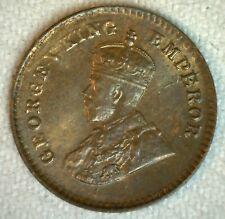 1921 India-British 1/12 Anna Bronze Coin Uncirculated