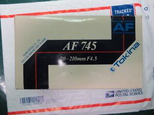 TOKINA 70-210mm f/4.5 AF LENS FOR PENTAX AF DSLR CAMERAS-PANTEX P/KAF MOUNT
