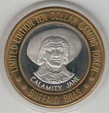 1999 Buffalo Bill's Primm Calamity Jane Bust G .999 Fine Silver $10 Casino Token