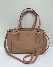NWT Coach Multi Edge Paint Small Christie Carryall Satchel F20476 - Nude Pink