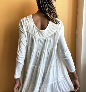 Free People Emily Mini Dress Ivory size XS