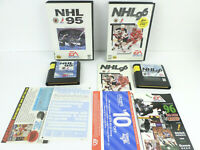 2 Sega Genesis Games NHL 95 (w/ Case), NHL 96 (CIB) Clean Contacts