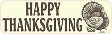 10inx3in Turkey Happy Thanksgiving Vinyl Sticker Car Truck Vehicle Bumper Decal