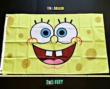 New listing SpongeBob Flag Free First Class Ship Patrick Sandy Poster Picture New Banner