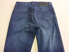 096 MENS NWT LEE L1 STOVEPIPE BLUE SHADOW STRETCH JEANS 30 REG $130 RRP.