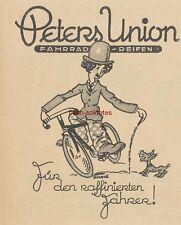 Werbung Anzeige René Ahrlé: Peters Union Fahrrad-Reifen - Charlie Chaplin - 1926