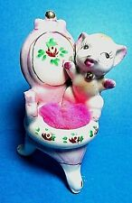 Vintage Cat on Chair Pin Cushion Japan  FREE SHIPPING