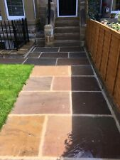 Autumn Brown Indian Sandstone Paving Slabs Patio Flags | 900x600 | 18.90m2 Pack