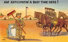 (987)  Vintage Military Comic Postcard U.S. Army