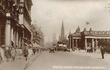 RPPC,Edinburgh,Scotland,U.K.Princes Street,Trolley Car,Used,No Stamp,c.1920s