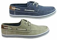Brand New Wild Rhino Dustin Mens Comfortable Canvas Boat Shoes Casual Shoes