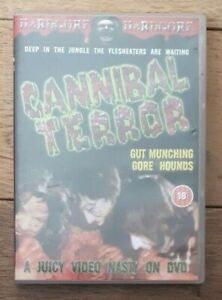 Cannibal Terror - Stan Hamilton - 1980/2003 Hardcore - Region 2 Dvd - Vgc