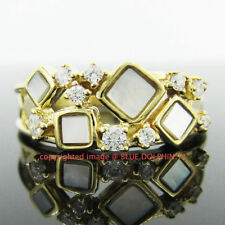 Cubic Zirconia Natural Yellow Gold Fine Rings
