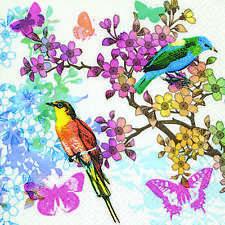 Waxglo Birds of Paradise Luncheon Napkin By Spotlight