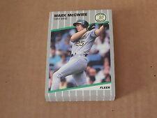 Oakland Athletics Mark McGwire 1989 Fleer Team Set
