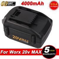 4.0AH For WORX WA3520 20V MAX Li-Ion Battery Pack WA3525 WA3578 WA3575 WG155 USA