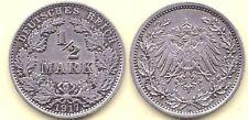1917 A * 1/2 Mark argent Empire, conservation: très belle +, Image d'origine