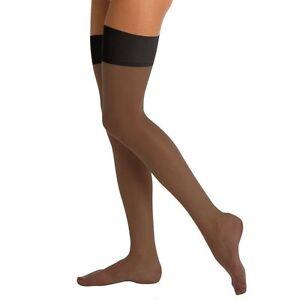 Berkshire Full Support Lycra Leg Reinforced Toe Off Black Stockings Size B