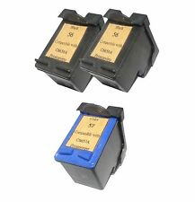 Printenviro 2x HP 56 + 1x HP 57 Reman Ink Cartridges 44% More Deskjet 450