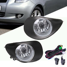 For 2006-2008 Toyota Yaris Hatchback Clear Fog Light Replacement +Switch Wiring