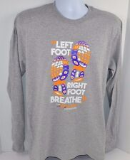 Tennessee Lady Vols PAT SUMMITT FOUNDATION Left Foot..Breathe Gray L/S T-Shirt M