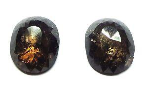 9.71 Karat Total Gewicht Rose Schnitt Poliert Diamant Paar