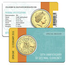 2016 Royal Australian Mint 50th Decimal Currency 50c Gold Plated Coin - Open Day