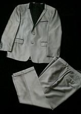 PORTO FILO Sz 42/36 Silver n black suit made in italy