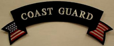 """""""Coast Guard"""" Top Rocker with Us Flag approx 12 inches wide"""