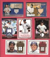 BABE RUTH BAT MICKEY MANTLE DEREK JETER REGGIE JACKSON DAVE WINFIELD JERSEY CARD