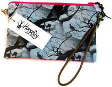 NEW Gothic Birds Tobacco pouch bag wristlet purse handmade in Australia HORSEFLY