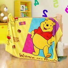 Disney Winnie the Pooh Bear Plush Silky Flannel Blanket Throw Bedding 100x140cm