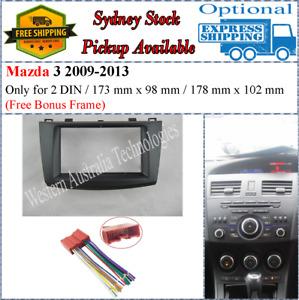 Harness + Fascia facia Fits Mazda 3 2009-2013 Double Two 2 DIN Dash Kit