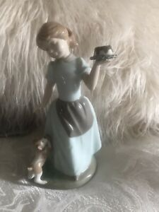 NADAL ornament 'Girl With Dog & Cake' Figurine 1st Quality
