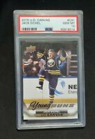 Jack Eichel Rare -  🔥PERFECT PSA10!  2015 -16 Upper Deck Young Guns Canvas M+