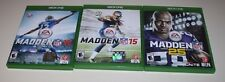 XBOX ONE 3 GAME LOT MADDEN 2015, 2006 & 25TH ANNIVERSARY FREE SHIPPING
