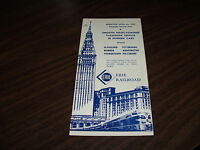 APRIL 1959 ERIE RAILROAD FORM CPW CLEVELAND SERVICE PUBLIC TIMETABLE