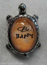 Qqh be Happy Lucky Turtle Figurine ganz Inspirational hope Message positive