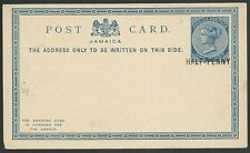 JAMAICA QV HALF-PENNY on 1d postcard unused................................61019
