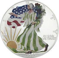 USA 1 Dollar 2000 American Silver Eagle Farbmünze in Münzkapsel T11-6
