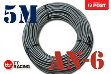 8mm STAINLESS STEEL BRAIDED 1000 PSI AN6 6-AN OIL FUEL LINE HOSE 5M