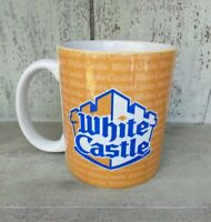 Rare White Castle Orange/Blue/White Restaurant Coffee Mug, 12 ounce 2010 NICE !!