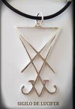 Sigilo de Lucifer,sello Satán Iglesia Satán Angel Caido Plata 925 Silver Devil