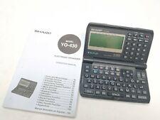 Sharp Y0-430 Electronic Organizer Backlit Handheld Address Phone#